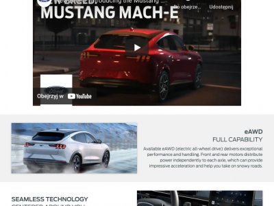 Obrazek Ford Mustang Mach-E tablet